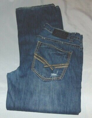33f944e1c9d Mens TK AXEL Wolcott Vintage Boot Distressed JEANS 100% Cotton Size 32x30