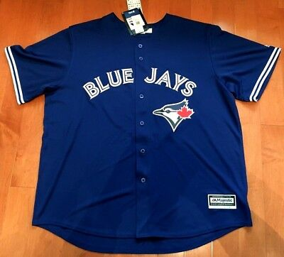 BONUS! NWT 2XL JOSE BAUTISTA Toronto Blue Jays Jersey - Majestic Cool Base