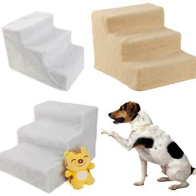 Pet Stairs 3 Step Dog Ladder Ramp Steps Stair Small Dogs Cats White/Beige/Black
