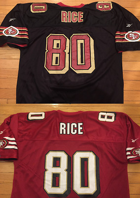 bd5b4cd2 VINTAGE MENS SAN Francisco 49ers Jerry Rice #80 Reebok NFL Football ...
