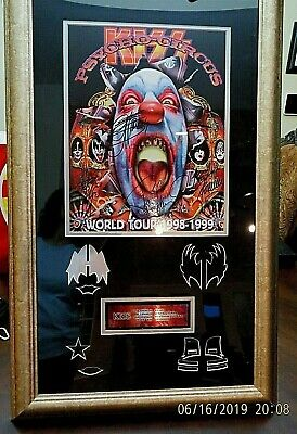 1998/99 KISS Autographed Psycho Circus Tour Program Framed With COA!! BV $500!!!