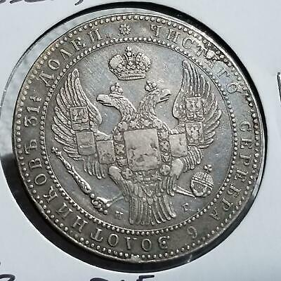 Poland 1835 Under Russia Silver 1.5 Rouble 10 Zlote Crowb C134 A34