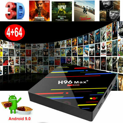 Android 9.0 4+64G Quad Core 4K Smart TV BOX DUAL WIFI BT 4.0 USB 3.0 MediaPlayer