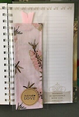Handmade Fabric Bookmarks With A Ribbon Top