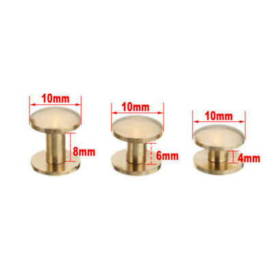 20X Belt Screw Brass Solid Rivets Stud Head Leather Craft Nail Quality-Wallet A5