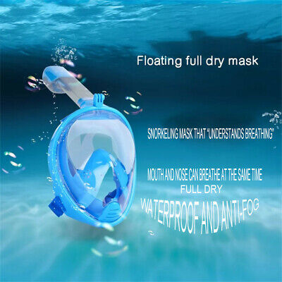 180° Panoramic View Snorkel Mask Full Face Diving Goggles For Adult Kids S/M/XL
