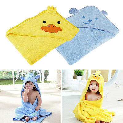 Baby Soft Cartoon Toalla con capucha Niños Swim Beach Bath Wear Kids Albornoz