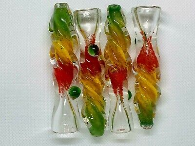 "4"" TOBACCO Chillum Straight Pipe One Hitter Smoking Pipe (Buy 3 Get 1 Free)"