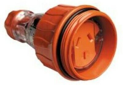 Clipsal CORD EXTENSION SOCKET 250V 3-Pins Flat RESISTANT ORANGE- 10A Or 15A