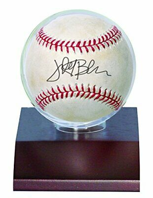 *Ultra-professional baseball display holder Brown with wooden pedestal