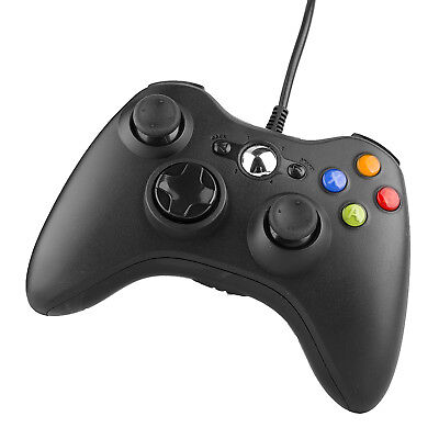 USB Wire Joystick Gamepad Shock Controller 2m Cable for XBox 360 Windows 10 PC