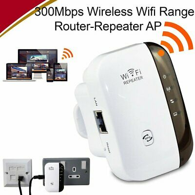 AU Wireless 300Mbps Wifi Range Router Repeater Extender Booster Wi-Fi 802.11 AP