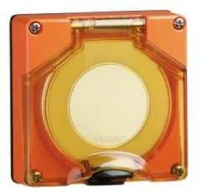 Clipsal 56-SERIES REPLACEMENT SOCKET COVER Screw Mounting ORANGE *Aust Brand