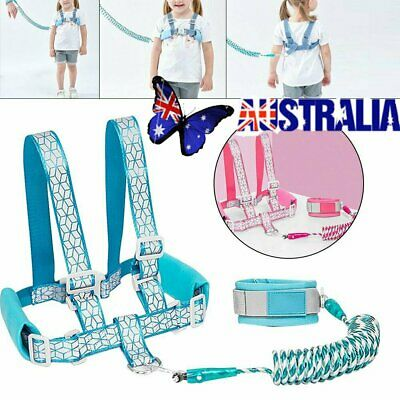 Baby Walking Harness Toddler Kids Anti-lost Safety Shoulder Strap Belt Leash NW