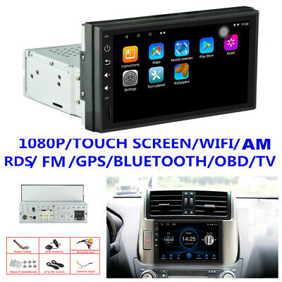 """1080P 1Din Android 8.1 7"""" Car Stereo Radio GPS Nav Player Wifi Mirror Link OBD"""