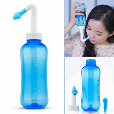 300ml Nasal Wash Neti Pot Nose Cleaner Bottle Nose Irrigator Saline Allergic Hot