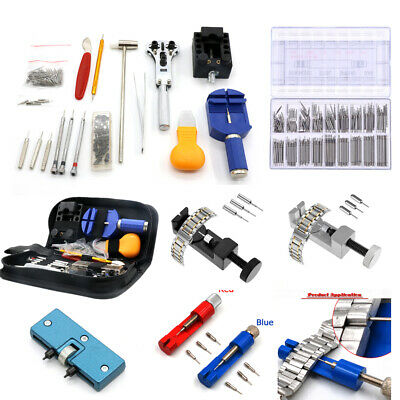 Watch Repair Back Case Pin Link Spring Strap Band Remover Opener Tool Kit Set UK
