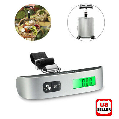 Hot Sale Travel 110lb / 50kg LCD Digital Hanging Luggage Scale Electronic Weight