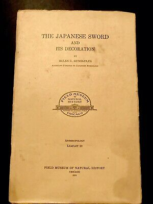 THE JAPANESE SWORD & ITS DECORATION ANTIQUE PAMPHLET ninjutsu Bujinkan Martial