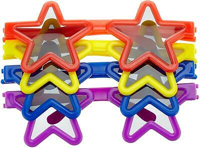 12 Star Novelty Glasses Kids Birthday Party Gifts Bags Fillers Loot Pinata Toys