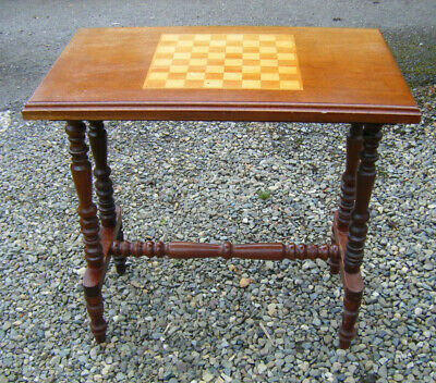 Vintage Wooden Chess Console Hall Table