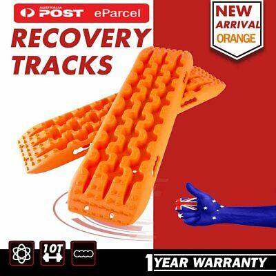 2PCS New Recovery Tracks Sand Track 10T Vehicle Sand/Snow/Mud Trax Oragne 4WD