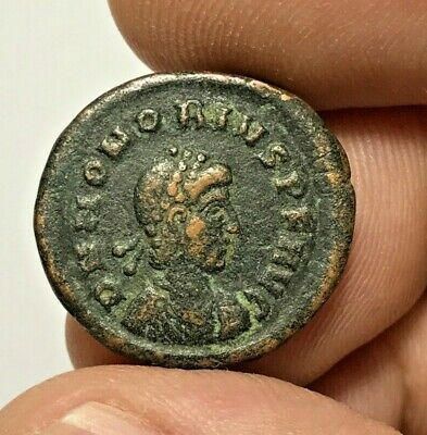 ANCIENT ROMAN BRONZE COIN HONORIUS LARGE 5.1gr 22.5mm