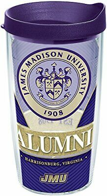 Tervis 1295454 James Madison Dukes Alumni Insulated Tumbler with Wrap and Royal