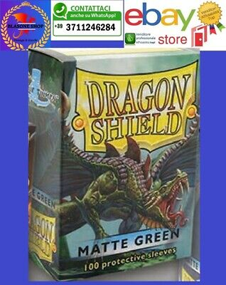100 Protective Sleeves Dragon Shield Magic MATTE GREEN Bustine Protettive Verde