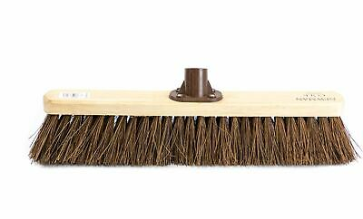 "Newman and Cole 18"" Stiff  Bristle Yard Brush Broom Head with Plastic Bracket"