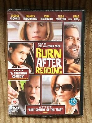 Burn After Reading DVD (2009) NEW SEALED George Clooney Brad Pitt Region 2,4