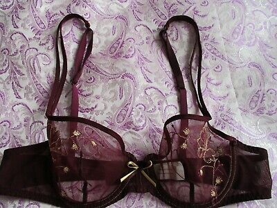 SIMONE PERELE 13R340 Amour Lace Demi Beige//Pink Push Up Bra size 36A New W// Tag