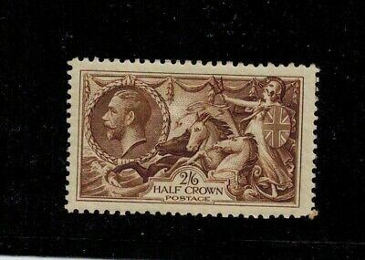 1934 Re Engraved 2/6  Sg 450 Seahorse Sg £80.00 Light Mounted Mint