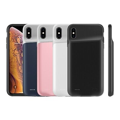 10000mAh For iPhone XS Max XR 8 7 Battery Power Case Bank Charger Back Up Cover