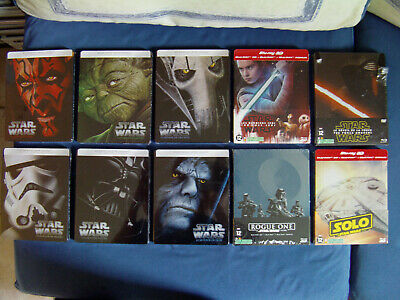 STAR WARS 1.2.3.4.5.6.7.8.9 .10 Lot 10 Steelbook BLU RAY Éditions limitées VF