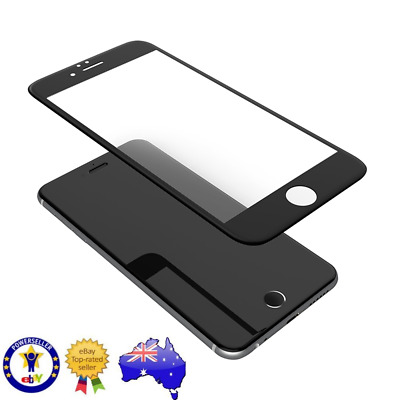 Apple iPhone 7 8 5D full coverage screen protector tempered glass film (black)
