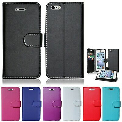 Pu Leather Plain Colour Book Wallet Secure Case Cover For Samsung Galaxy A5 2017