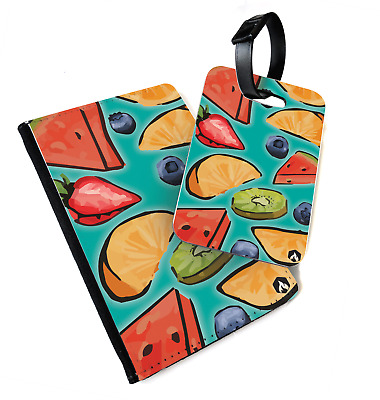 Fruit Pattern - Salad | Printed Passport Cover & Luggage Tag - Vegan