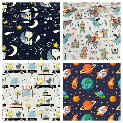 children forest designs 100% cotton sold by big fat quarter ,craft ,sewing