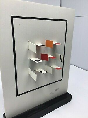 Yaacov Agam Paper Kinetic Sculpture Abstract Composition