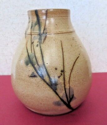 Port-Joli Art Pottery Vase Earth Tones Studio Crafted Hand Made / Painted Signed