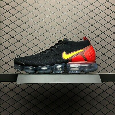 Nike Air Vapormax Flyknit 2 II Classic white men's running shoes Black and Red