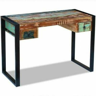 Industrial Home Desk Solid Reclaimed Wood Vintage Writing Wood Antique Wooden