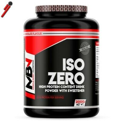 MBN Muscle Body Nutrition, Iso Zero, 2000 g Whey Isolate Proteine Siero Latte
