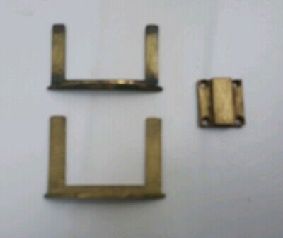 2 Antique Brass Table Forks And 1 Catch.