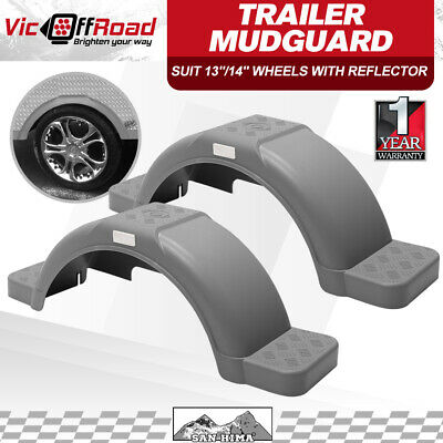 OFF ROAD TRAILER MUDGUARDS PER PAIR, SMOOTH FINISH 330mm