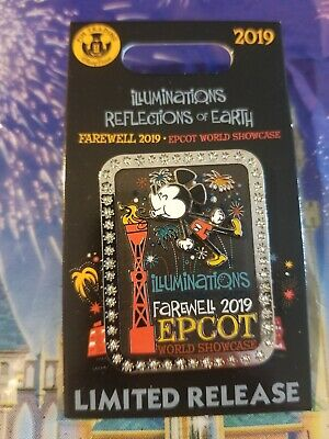 Disney World EPCOT Trading Pin 2019 Farewell Illuminations World Showcase