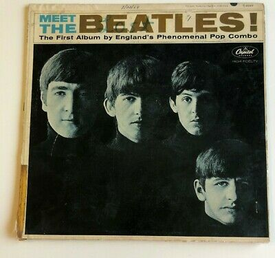 Meet The Beatles! Vinyl LP Record Album First 1st Edition 1964 Mono Release