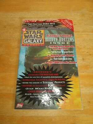 Topps Star Wars Galaxy Magazine Issue #6 Winter 1996 Original Wrapper & Poster