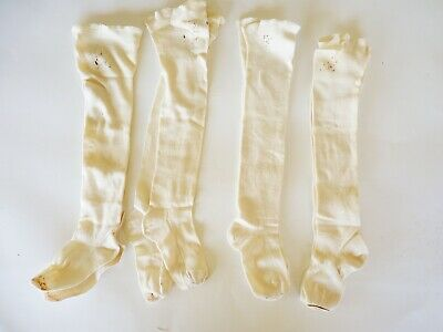 Antique Baby Long Cotton Socks Lot Child Doll Or Bear